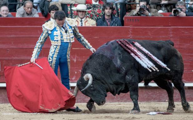 Enrique Ponce en la plaza de toros de Valencia el día que conmemoró su veinticinco aniversario de alternativa. La elegancia del conjunto / Foto: Javier Comos